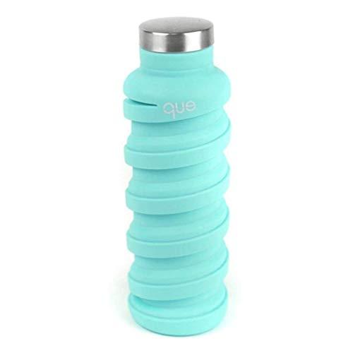 que Bottle | Konzipiert für Reisen und Outdoor Faltbare Wasserflasche – Lebensmittelechtes Silikon/BPA-frei/leicht/umweltfreundlich – 568 ml (Misty Mint)