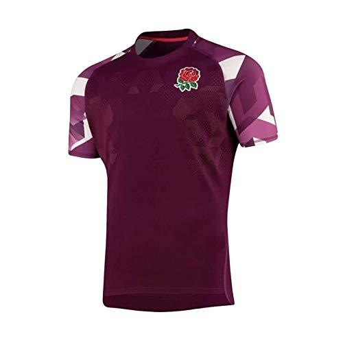 2020-21 Camiseta De Rugby De La Selección Nacional De Inglaterra, Uniforme De Rugby De Manga Corta para Hombre, Réplica De Ropa De Entrenamiento Senior S-5xl L