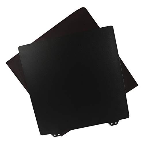 perfk 3D Printing Build Surface, Heat Bed Platform PEI Spring Steel Sheet Kit, 9.25x9.25 inch for Ender 5