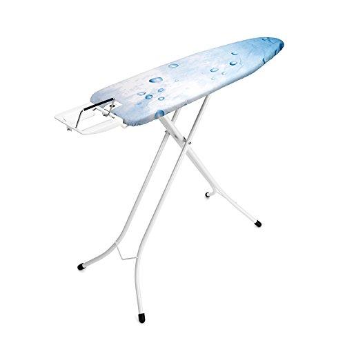Brabantia 100628  -Mesa de planchar, Soporte para planchas de vapor, Estructura Blanco Puro, Multicolor (Ice Water), 110 x 30 cm