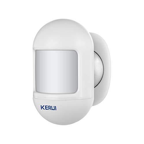 KERUI P831 Mini Funk PIR Bewegungsmelder mit Batterie - 433MHz - Bewegungssensor BM für Alarmanlage Haus Set - Einbruchmeldeanlage - Weiß (Pack1)