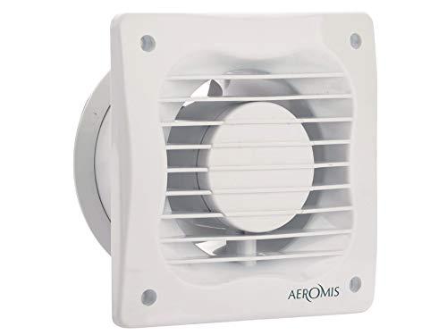 Aeromis 100 millimetri Aspiratore estrazione ventilazione standard di silenzio bagno cucina wc a basso consumo energetico