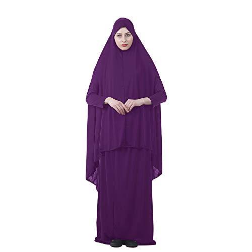 xHxttL La oración musulmana vestido, islámico del rezo musulmán length Hijab para Mujeres XXL / XXGrande B10