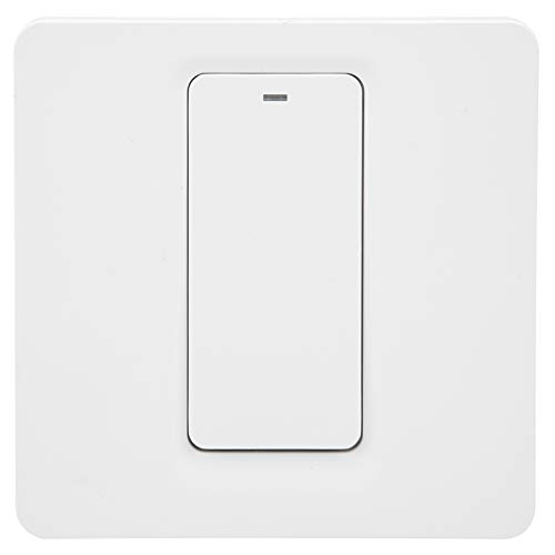 Interruptor táctil inteligente DS ‑ 102‑1, interruptor inalámbrico de control remoto de teléfono móvil, interruptor inteligente WiFi montado en la pared 2.4GHZ 100‑240VAC
