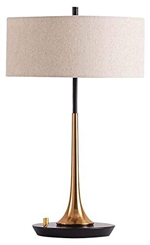 nakw88 Hardware Tela Sala de Estar lámpara China Simple Dormitorio mesita de Noche Dise?Ador luz lámpara de Mesa de Lujo 35x55 cm Lámpara de Mesa