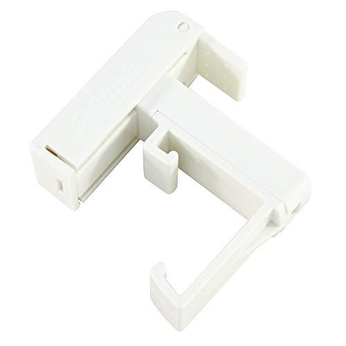 GARDINIA Klemmträger für Jalousien mit 25 mm Oberschienen, 2 Stück, Kunststoff, Weiß