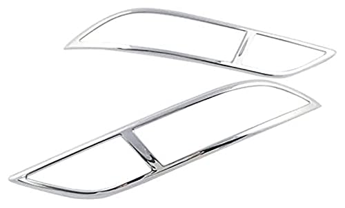 xinghui Fit für Vauxhall Mokka X 2017-2019 ABS Chrom hinten Nebelscheinwerfer abdecken Streifen 2 Stück