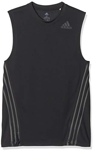 adidas Herren AEROREADY 3-Streifen Tanktop, Black, XL
