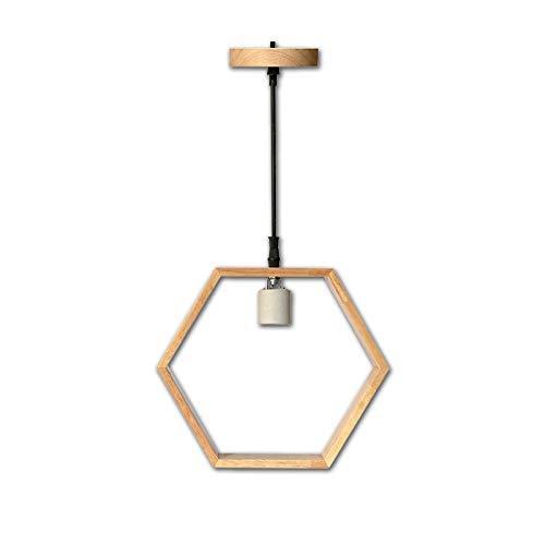 Lampada illuminazione a sospensione legno vite E27 per ristorante camera da letto soggiorno studio 26x23x5 diametro colore naturale