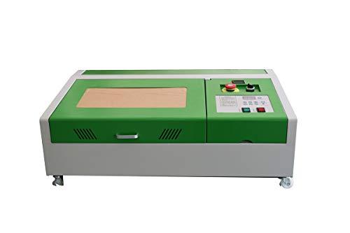 New 40W CO2Laser Gravieren und Schneiden Maschine USB Laser Drucker + 4rads