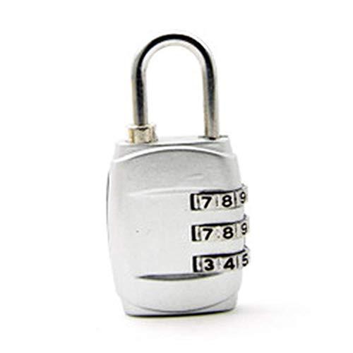 HZWLF Vorhängeschlösser, Kombination 3-stelliges Gepäckschloss mit Aluminium-Schließfachschloss für Reisetasche Koffer Koffer Schließfächer Gym Bike 2St
