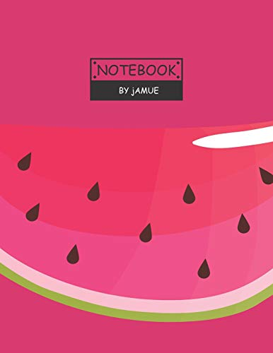 Notebook: Fruits watermelon red cover and Lined pages, Extra large (8.5 x 11) inches, 110 pages, White paper;Fruits Watermelon Red Notebook