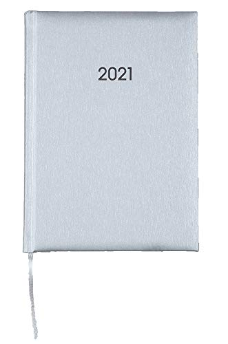 2021 ADINA Buchkalender Chefplaner A5 1 Tag 1 Seite auch sonntags silber