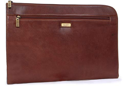 Visconti A4 Zipped Conference Folder - Leather Portfolio - 18238 - BOND - Tan - Tan - M