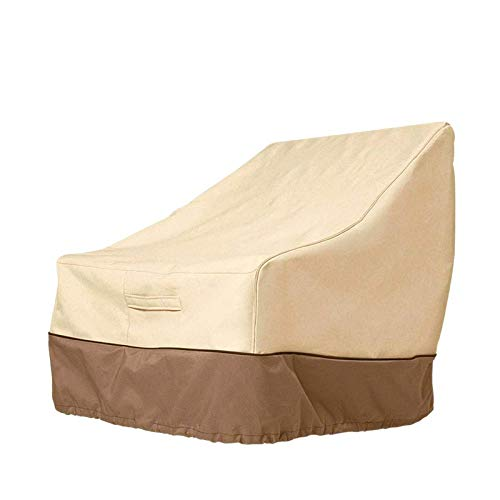 babytowns Patio Chair Covers Waterproof Outdoor Heavy Duty High Back Furniture Chair Cover 210D Oxford Fabric Protective for Garden Deep Seat Lounge Chair (85 * 80 * 91.5 cm)