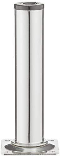 Element System 4 Stück Stahlrohrfüße rund / Tischbeine / Möbelfüße / inkl. Anschraubplatte / L 15 cm / Ø 30 mm / chrom / 4 Farben / 11 Abmessungen