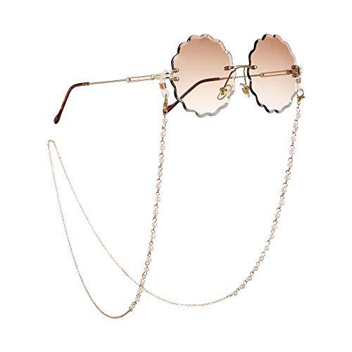 VHGYU brillenketting brillen cord brillenketting Simple Imitatie Pearl brillenketting anti-slip hals bril touw zonnebril accessoires bril nek koord zonnebril polsoog