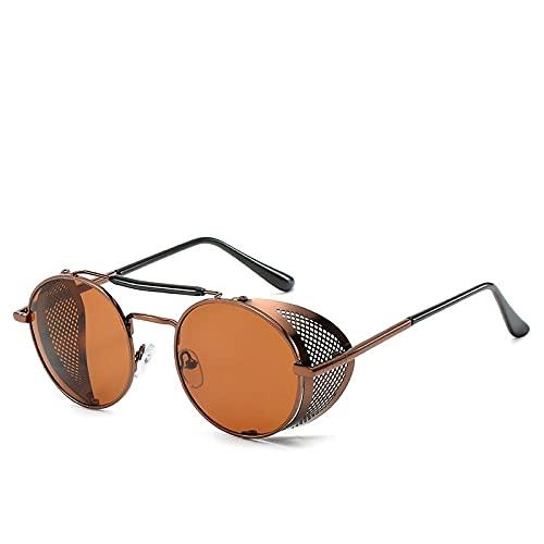 Astemdhj Gafas de Sol Sunglasses Gafas De Sol Retro Punk para Hombre Gafas De Sol De Lujo para Hombre Gafas De Sol De Diseñador Vintage para Hombre Diseñador TeateaAnti-UV