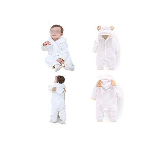 Guy Eugendssg Newborn Baby Winter Clothes Infant Baby Girls Soft Fleece Outwear Rompers-12M Boy Jumpsuit 2Bai 3M