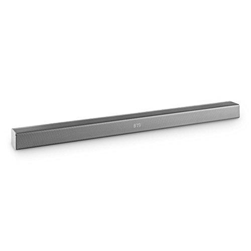 auna Areal Bar 350 2.0 Soundbar (Bluetooth 3.0, UKW-Radiotuner, USB-Port zur Musikwiedergabe / Stromversorgung, AUX-Eingang, 2 x 40 Watt max, Fernbedienung) grau