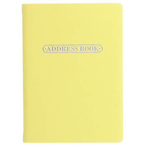 Letts Pastel - Libreta de direcciones (A6), color amarillo
