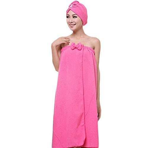 Xiaobing 1 Juego de Toallas de baño, Toallas absorbentes mágicas Suaves, Toallas de baño de Secado rápido para Mujeres-Rose Red