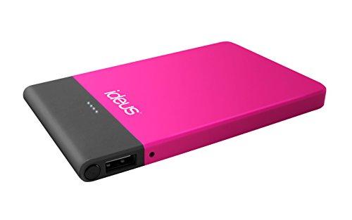Ideus PBPL5000FU - Batería Externa de 5000 mAh, Color Rosa