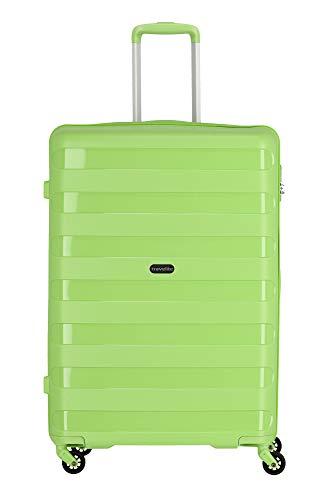 """Travelite Farbenfrohe, lässige Hartschalen-Trolleys der Serie """"Nova"""" machen jede Reise zum bunten Abenteuer Koffer, 75 cm, 99 Liter, Grün"""
