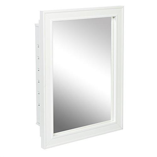 American Pride G9610R1W G9610R1W-Recessed Wood Framed Mirror Steel Tech Body Medicine Cabinet 16″...