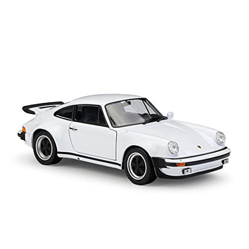 SRJCWB Coche en Miniatura del Reparto para 1974 Porsche 911 Escala 1:24 Juguetes para Niños Diecast Alloy Metal Car Model Collection Coche De Simulación (Color : Plata)