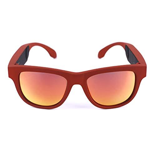 RHSMW Occhiali Intelligenti A Conduzione Ossea, Occhiali da Sole Polarizzati Bluetooth 5.0 UV400 Impermeabile Touch Sport all'Aria Aperta Possono Essere Dotati di Miopia,b