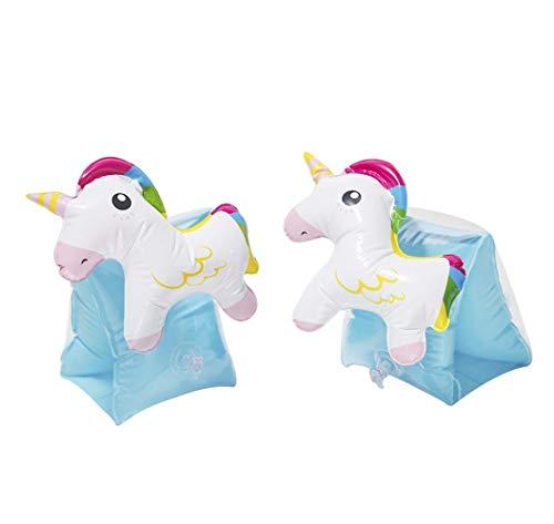 Brazaletes Inflables Infantiles Unicornio Niños, Mangas de flotación Flotadores Tubo Alas de Agua Natación Brazo para Playa O Piscina (Unicornio)