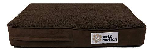 Petzmotion Materasso Ortopedico per Cani in Memory Foam, Rivestimento Impermeabile, Lavabile, Ideale per artrite, displasia dell'Anca, ECC.
