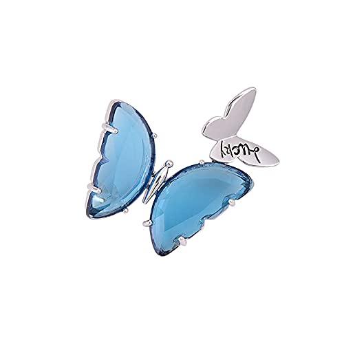 Broche de Mariposa Broche de Pin de Ropa Fija de Cintura con Insignia de Cristal Lindo