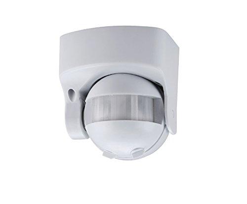 Bewegungssensor Bewegungsmelder Aufputz 360° Sensor Infrarot mit Dämmerungsregler für Innen und Aussenbereich 360° Arbeisfeld - bis 8m - LED geeignet