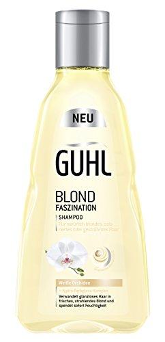 Guhl Blond Faszination Shampoo - 2er Pack (2x 250 ml) - mit weißer Orchidee - Glanz für ein natürliches oder coloriertes Blond