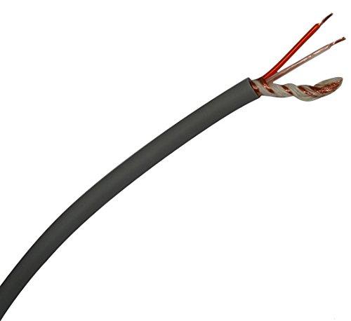 Aerzetix: cavo audio per cavo schermato Grigio 2X 0,25mm² Ø6mm c19741