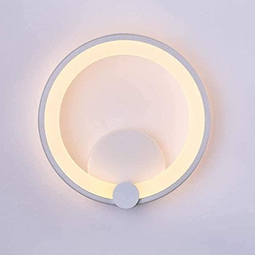 Lámpara de pared interior simple moderna sala de estar dormitorio pasillo redondo lámpara de pared led acrílico lámpara de noche sala pasillo lámpara de pared