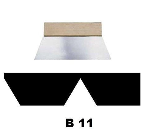 Leim Klebstoff Zahnspachtel Bodenleger Normalstahl B11 8.0x6.0mm gezahnt 180mm