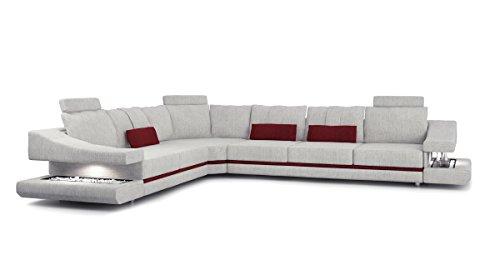 Bullhoff by Giovanni Capellini Sofa Couch Wohnlandschaft Luxus Stoffsofa Design Ecksofa L-Form mit LED-Licht Beleuchtung Stuttgart