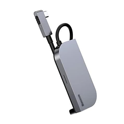 NXYJD SHJPJFXJ 6 En 1 USB C HUB Tipo C Hub A 4K HD USB 3.0 PD Port 3.5MM Jack USB-C USB Adaptador De Hub USB