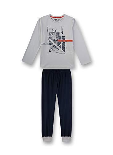 Sanetta Jungen Pyjama lang Zweiteiliger Schlafanzug, Grau (grau 1988), (Herstellergröße:164)