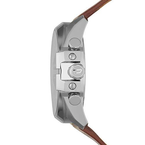 Diesel Homme Chronographe Quartz Montre avec Bracelet en Cuir DZ4290