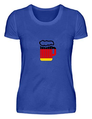 Sconosciuto Generic Metro Boccale da Birra Misura Bandiera Germania Oktoberfest Birra Amore Monaco Bayern Tenda – Maglietta da Donna Blu Fluo XXL