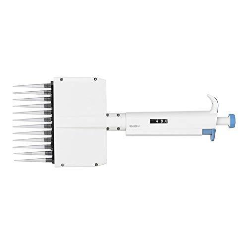 Oumefar Pipeta Ajustable de Alta precisión, Herramienta de Laboratorio de 50-300 μl, Manual de Volumen Variable para Oficina para Laboratorio