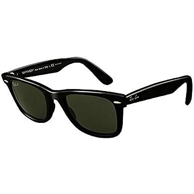 ddda6f176d5 Ray-Ban Original Wayfarer RB 2140 Sunglasses Black Crystal Green Polarized ( 901 58) 50mm   HDO Cleaning Carekit BundleRay-Ban Original Wayfarer RB 2140  ...