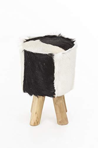 INDEX LIVING Design geitenvacht kruk teakhout kruk houten vachthout kruk