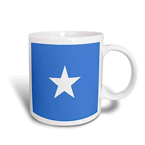 NA Mug_158431_2 Flagge von Somalia Somali Light Sky Blue mit weißem Stern Somalian African Country Ostafrika World Ceramic Mug