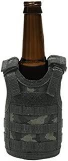 Tactical Premium Beer Military Molle Mini Miniature Vests Beverage Cooler for 12oz or 16oz Beverages cans and Bottles - Adjustable Shoulder Straps - ACU