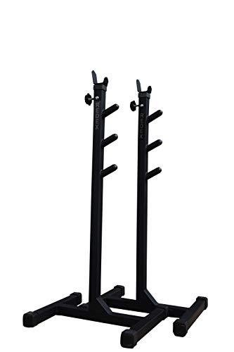 Redex Multipurpose Squat, Bicep Stand for Home Gym (Black )